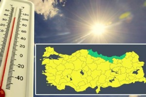 METEOROLOJÝ'DEN 75 ÝL ÝÇÝN SARI UYARI! SICAKLIKLAR YÜKSELÝYOR
