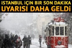 ÝSTANBUL'DA 3-8 CM KAR ÖRTÜSÜ BEKLENÝYOR