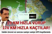 19 KM HIZLA SALDIRIP, 174 KM HIZLA KAÇMIÞLAR